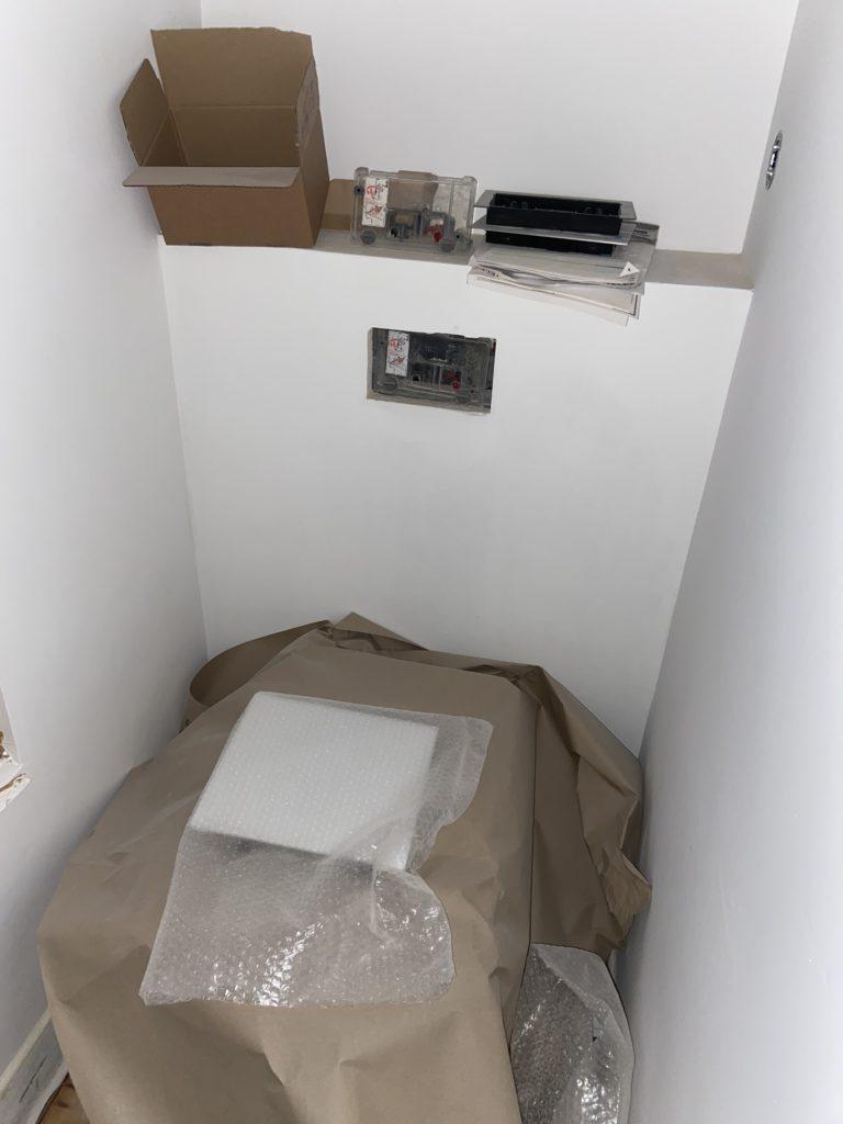 Toto Washlet in der Umbauphase