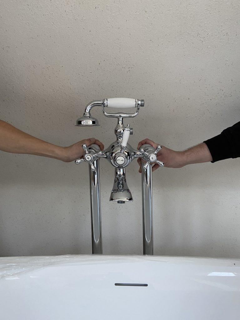 PaulGurke - wunderschöne Retro Standarmatur für die Badewanne