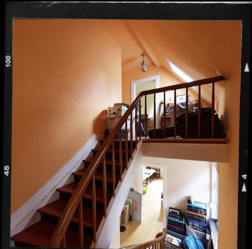 Altes Treppenhaus Stadtvilla vor der Renovierung
